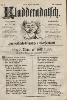 Kladderadatsch, 21. Jahrgang, 15. März 1868, Nr. 12
