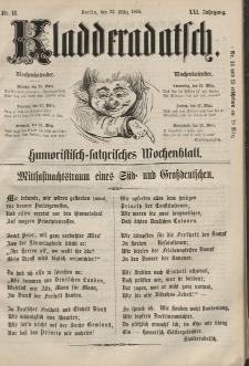 Kladderadatsch, 21. Jahrgang, 22. März 1868, Nr. 13