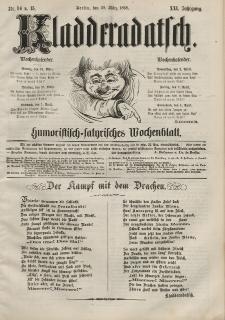 Kladderadatsch, 21. Jahrgang, 29. März 1868, Nr. 14/15