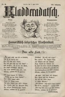 Kladderadatsch, 21. Jahrgang, 5. April 1868, Nr. 16