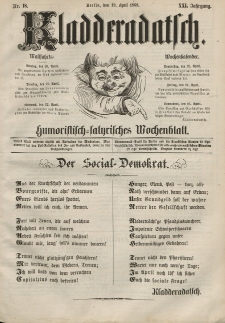 Kladderadatsch, 21. Jahrgang, 19. April 1868, Nr. 18