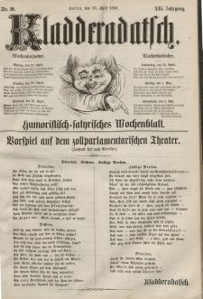 Kladderadatsch, 21. Jahrgang, 26. April 1868, Nr. 19