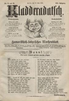 Kladderadatsch, 21. Jahrgang, 10. Mai 1868, Nr. 21/22