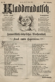 Kladderadatsch, 21. Jahrgang, 31. Mai 1868, Nr. 25