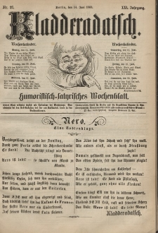 Kladderadatsch, 21. Jahrgang, 14. Juni 1868, Nr. 27