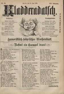 Kladderadatsch, 21. Jahrgang, 21. Juni 1868, Nr. 28