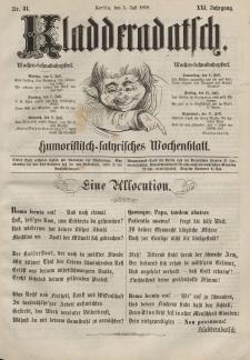 Kladderadatsch, 21. Jahrgang, 5. Juli 1868, Nr. 31