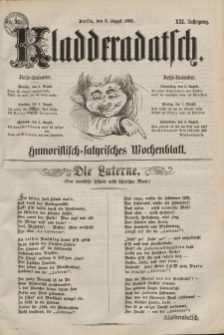 Kladderadatsch, 21. Jahrgang, 2. August 1868, Nr. 35