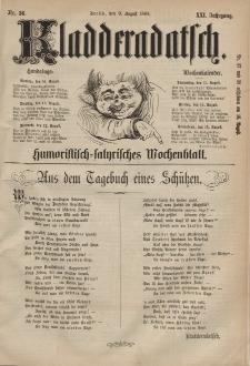 Kladderadatsch, 21. Jahrgang, 9. August 1868, Nr. 36