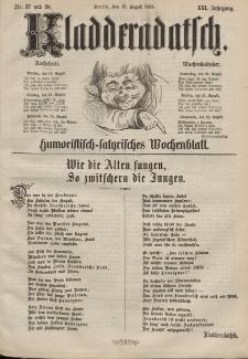 Kladderadatsch, 21. Jahrgang, 16. August 1868, Nr. 37/38