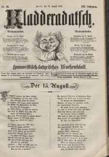 Kladderadatsch, 21. Jahrgang, 23. August 1868, Nr. 39