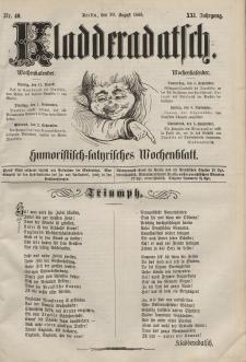 Kladderadatsch, 21. Jahrgang, 30. August 1868, Nr. 40