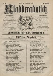 Kladderadatsch, 21. Jahrgang, 6. September 1868, Nr. 41