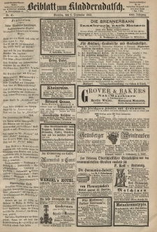 Kladderadatsch, 21. Jahrgang, 6. September 1868, Nr. 41 (Beiblatt)