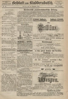 Kladderadatsch, 21. Jahrgang, 20. September 1868, Nr. 43 (Beiblatt)