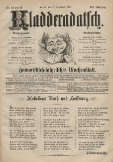 Kladderadatsch, 21. Jahrgang, 27. September 1868, Nr. 44/45