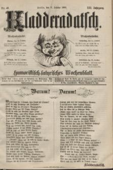 Kladderadatsch, 21. Jahrgang, 11. Oktober 1868, Nr. 47