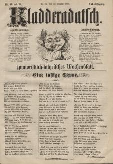 Kladderadatsch, 21. Jahrgang, 25. Oktober 1868, Nr. 49/50