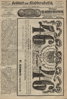 Kladderadatsch, 21. Jahrgang, 1. November 1868, Nr. 51 (Beiblatt)