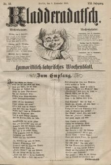 Kladderadatsch, 21. Jahrgang, 8. November 1868, Nr. 52