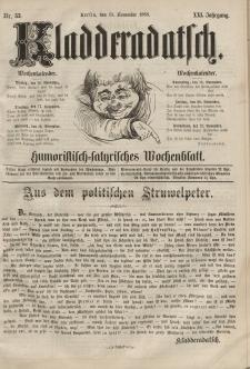 Kladderadatsch, 21. Jahrgang, 15. November 1868, Nr. 53