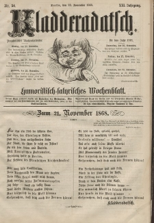 Kladderadatsch, 21. Jahrgang, 22. November 1868, Nr. 54
