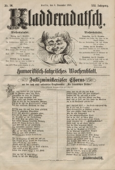 Kladderadatsch, 21. Jahrgang, 6. Dezember 1868, Nr. 56