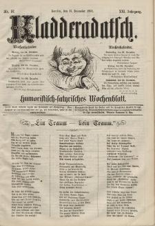 Kladderadatsch, 21. Jahrgang, 13. Dezember 1868, Nr. 57