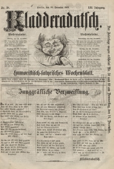Kladderadatsch, 21. Jahrgang, 20. Dezember 1868, Nr. 58