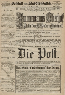 Kladderadatsch, 21. Jahrgang, 20. Dezember 1868, Nr. 58 (Beiblatt)