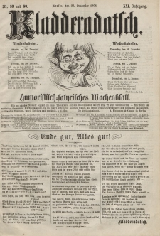 Kladderadatsch, 21. Jahrgang, 24. Dezember 1868, Nr. 59/60