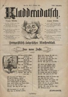Kladderadatsch, 22. Jahrgang, 3. Januar 1869, Nr. 1
