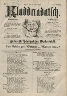 Kladderadatsch, 22. Jahrgang, 10. Januar 1869, Nr. 2