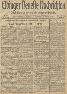 Elbinger Neueste Nachrichten, Nr. 111 Donnerstag 24 April 1913 65. Jahrgang