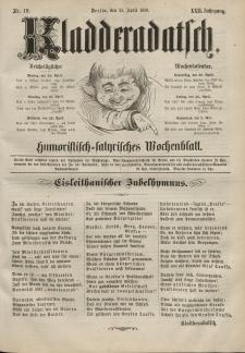 Kladderadatsch, 22. Jahrgang, 25. April 1869, Nr. 19