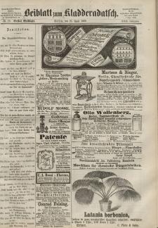 Kladderadatsch, 22. Jahrgang, 25. April 1869, Nr. 19 (Beiblatt)