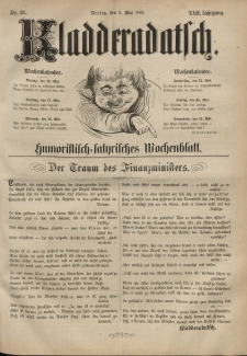 Kladderadatsch, 22. Jahrgang, 9. Mai 1869, Nr. 21