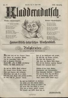 Kladderadatsch, 22. Jahrgang, 13. Juni 1869, Nr. 27