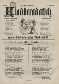 Kladderadatsch, 22. Jahrgang, 1. August 1869, Nr. 35