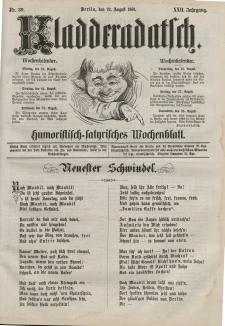 Kladderadatsch, 22. Jahrgang, 22. August 1869, Nr. 39