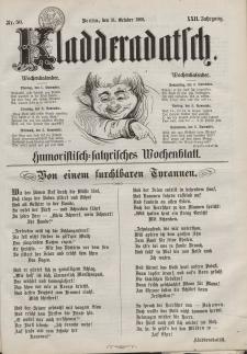 Kladderadatsch, 22. Jahrgang, 31. Oktober 1869, Nr. 50