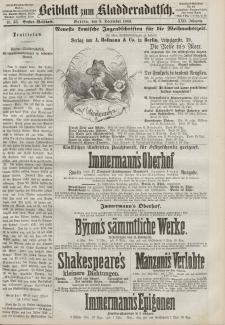 Kladderadatsch, 22. Jahrgang, 5. Dezember 1869, Nr. 56 (Beiblatt)
