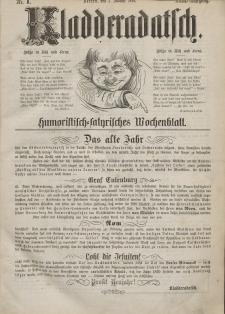 Kladderadatsch, 23. Jahrgang, 2. Januar 1870, Nr. 1