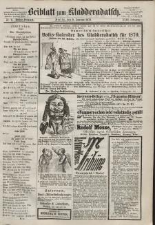 Kladderadatsch, 23. Jahrgang, 9. Januar 1870, Nr. 2 (Beiblatt)