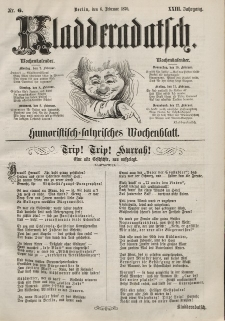 Kladderadatsch, 23. Jahrgang, 6. Februar 1870, Nr. 6