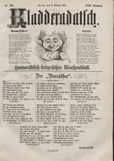 Kladderadatsch, 23. Jahrgang, 27. Februar 1870, Nr. 10