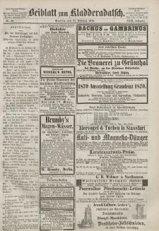 Kladderadatsch, 23. Jahrgang, 27. Februar 1870, Nr. 10 (Beiblatt)