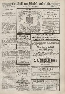 Kladderadatsch, 23. Jahrgang, 6. März 1870, Nr. 11 (Beiblatt)