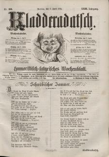 Kladderadatsch, 23. Jahrgang, 3. April 1870, Nr. 16