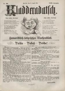 Kladderadatsch, 23. Jahrgang, 17. April 1870, Nr. 18